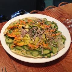 tortilla con flores de calabacín