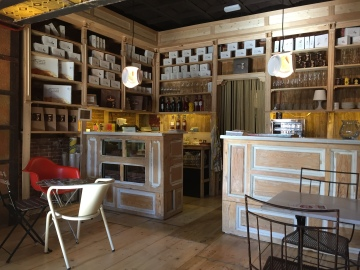 Interior de cafetería